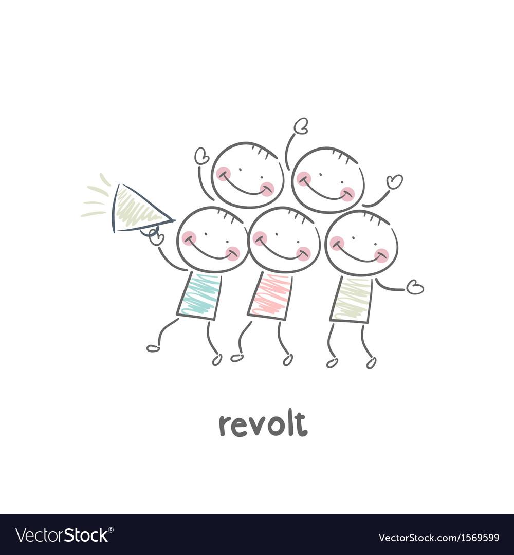 Revolt vector image