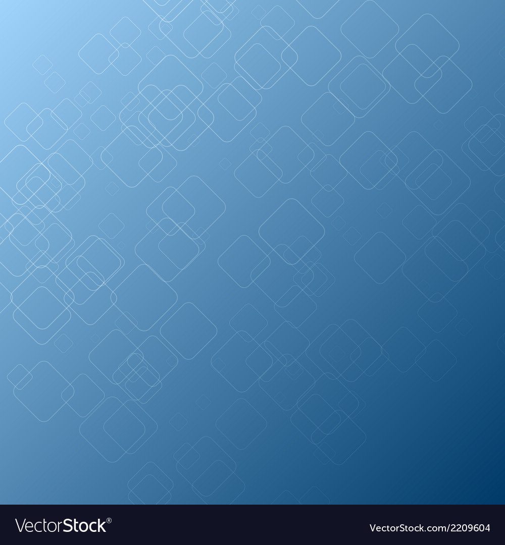 Abstract square shape on blue background