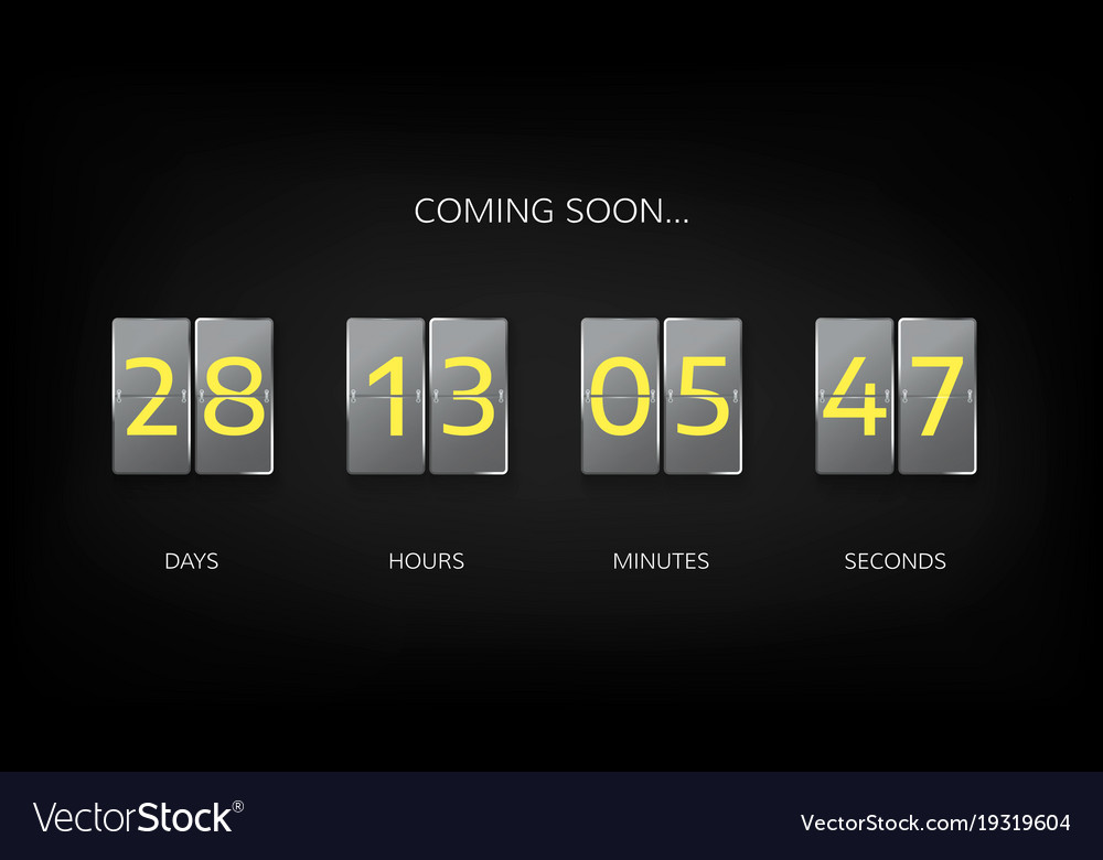 countdown timer clock counter countdown web site vector image