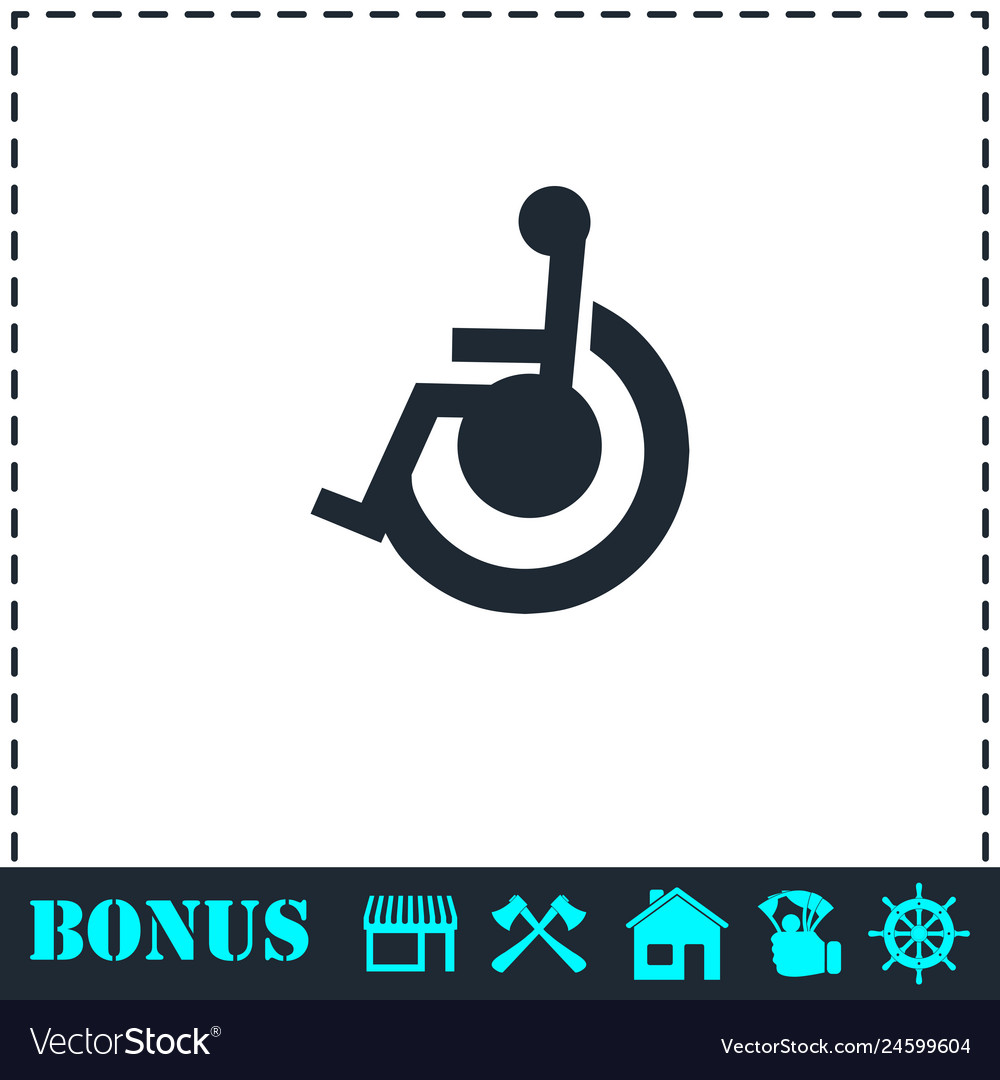 Disabled icon flat