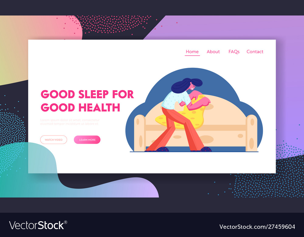 Good night and sleep website landing page young