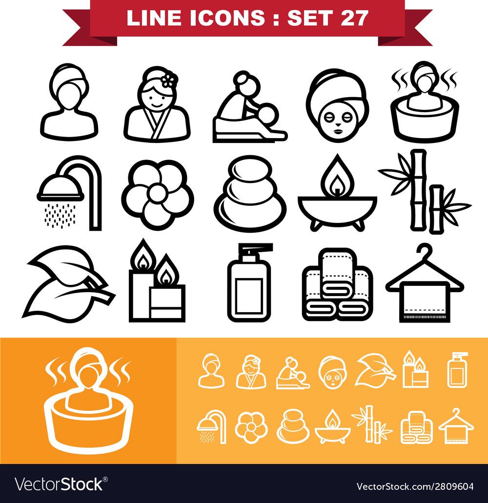 Line icons set 27