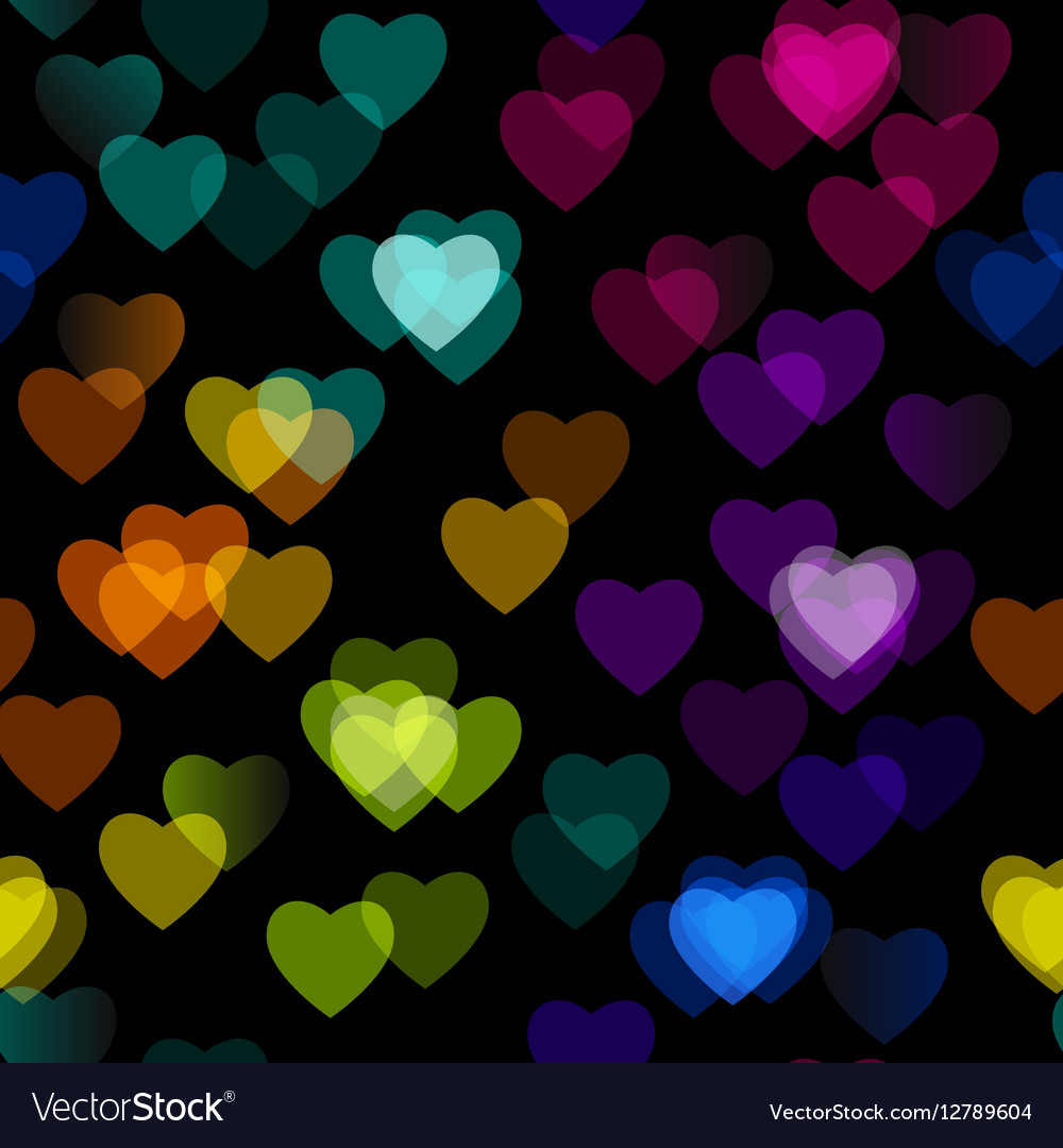 Multicolored heart isolated on black background vector image