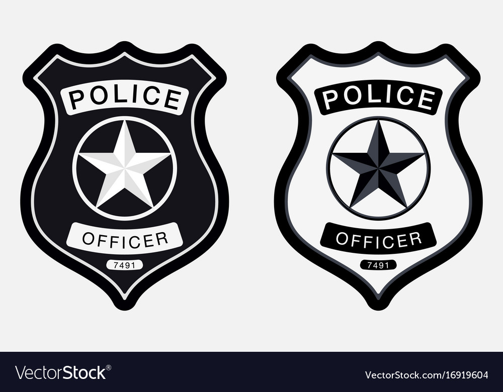 Police badge simple monochrome sign