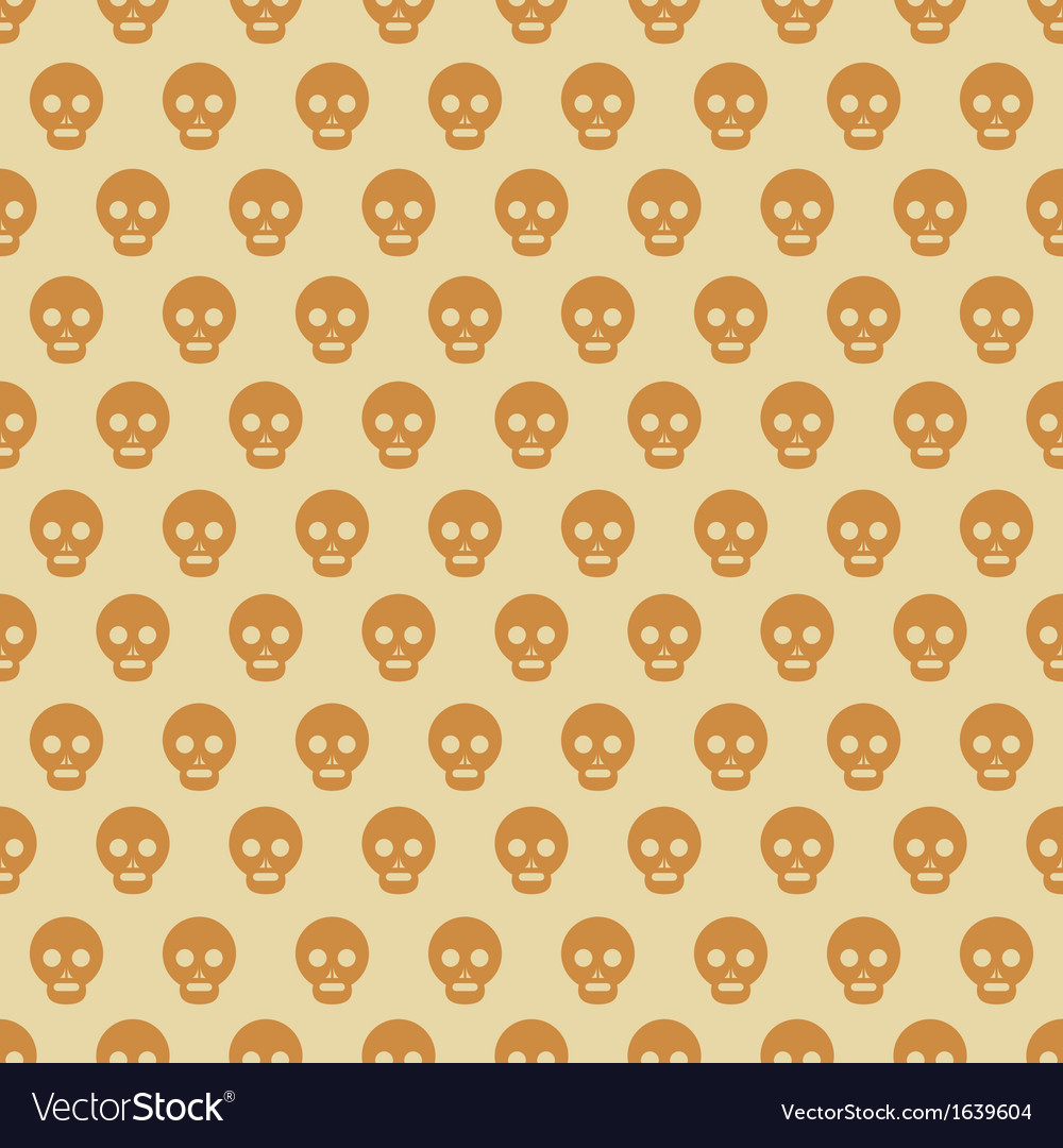 Seamless Halloween style skull pattern