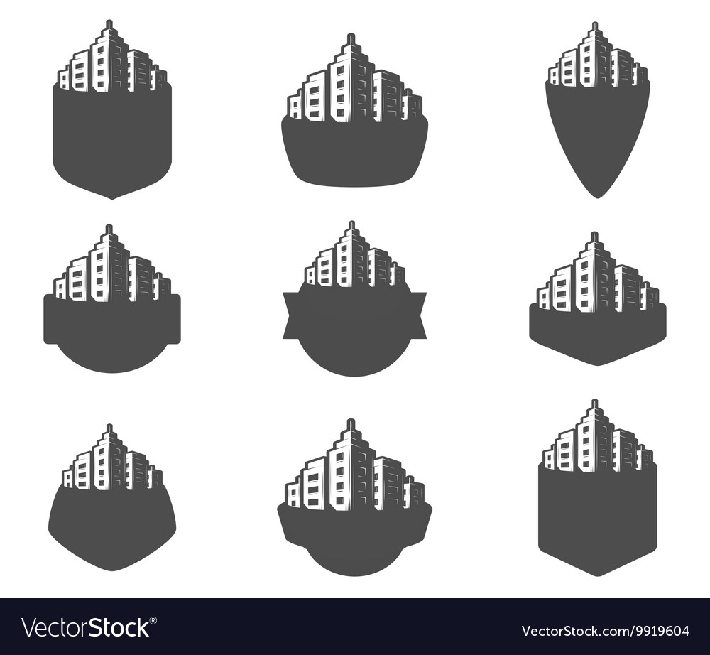 Set of logos city