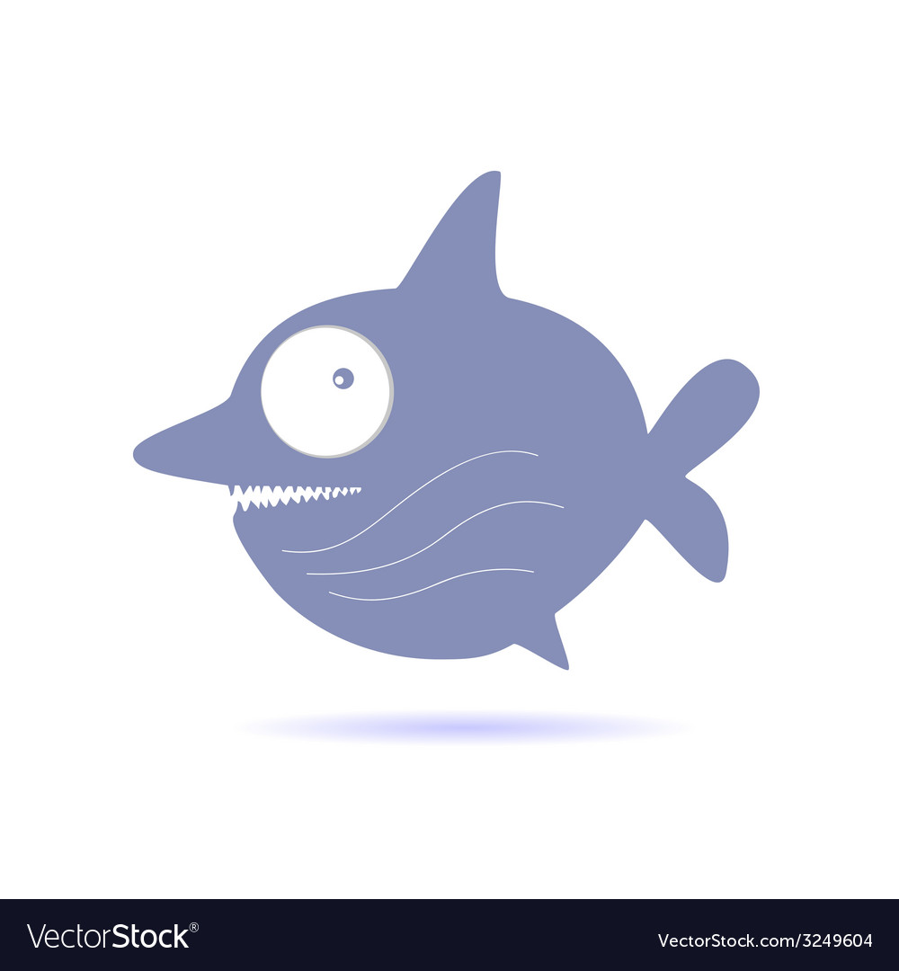 Sweet and funny shark vector image