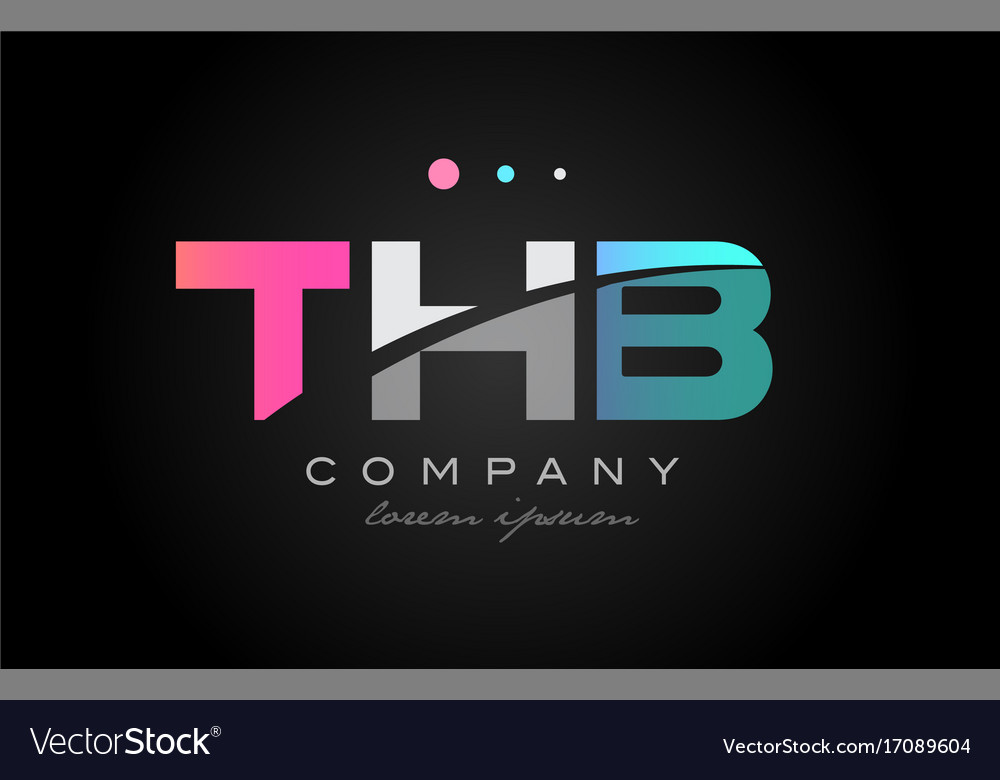 Thb t h b three letter logo icon design