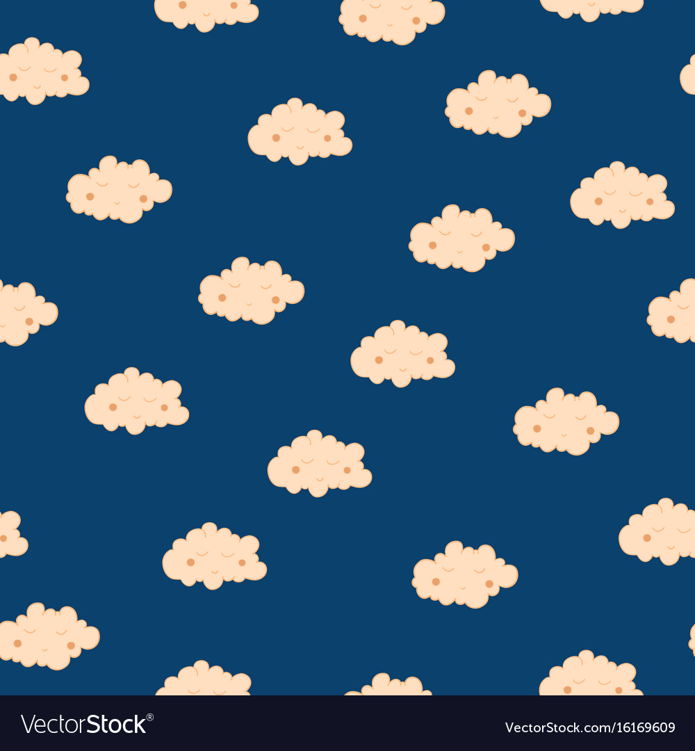 Beautiful seamless pattern with cute sleeping