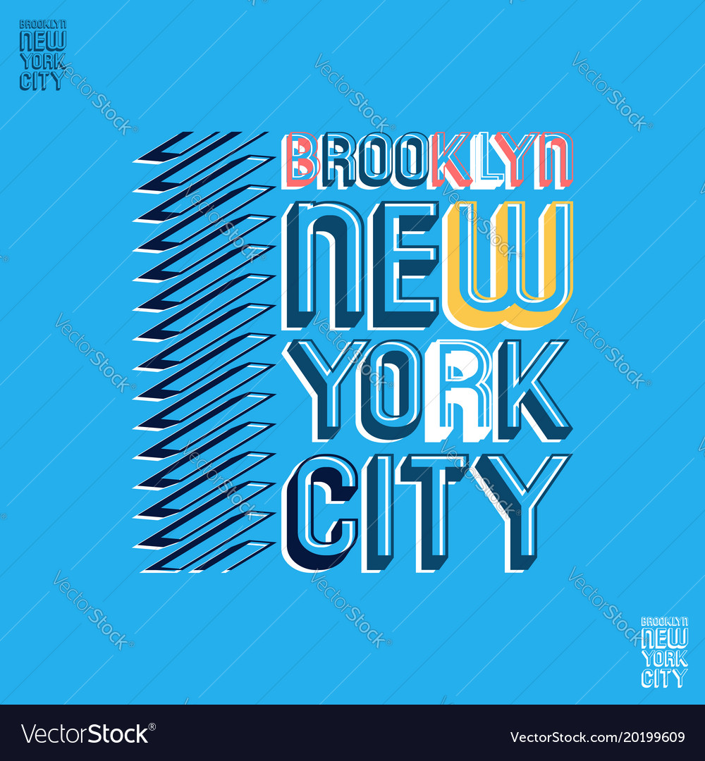 Brooklyn new york city t shirt print