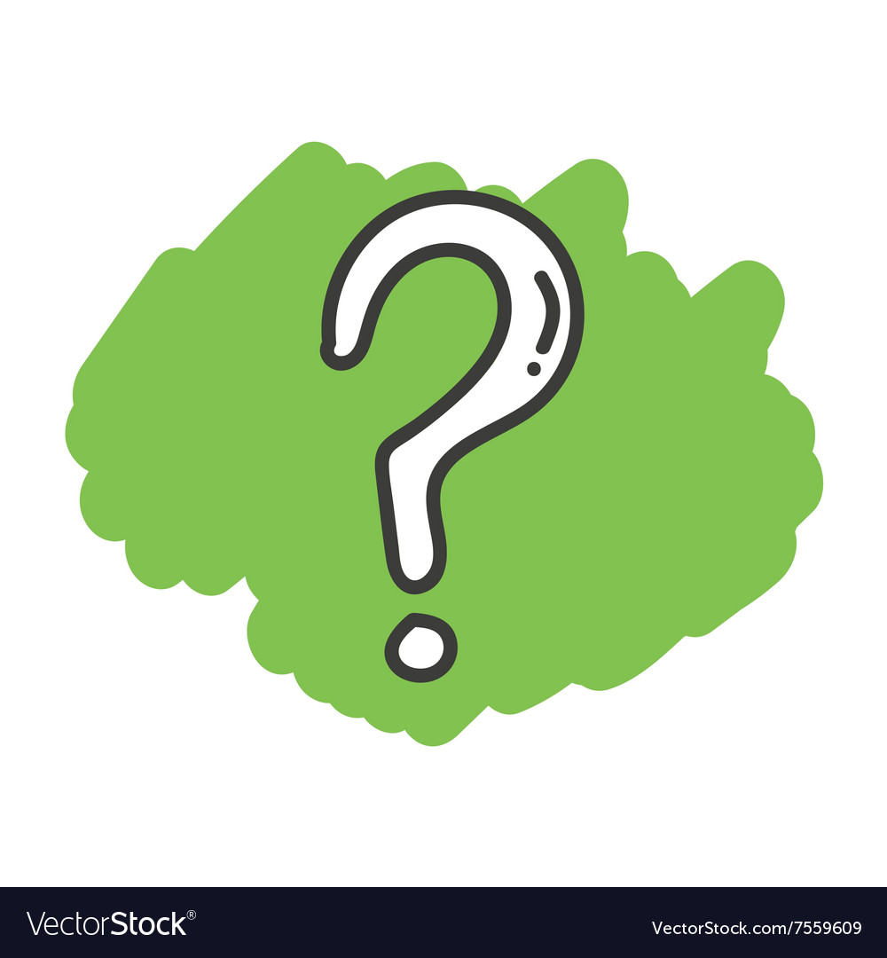 cartoon doodle question mark royalty free vector image rh vectorstock com question mark vector white question mark vector 3d