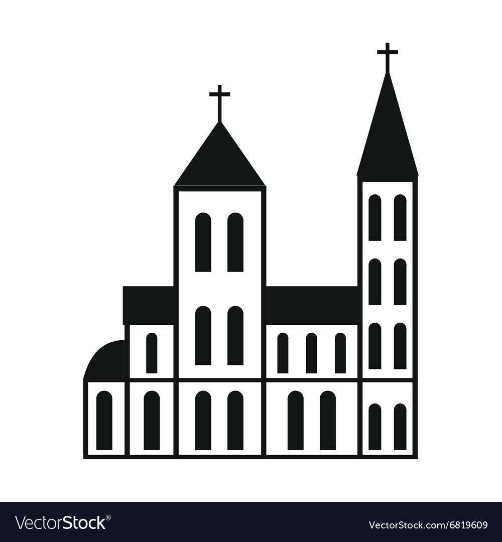 Catholic church simple icon