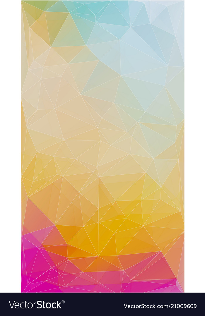 Fresh color triangle background