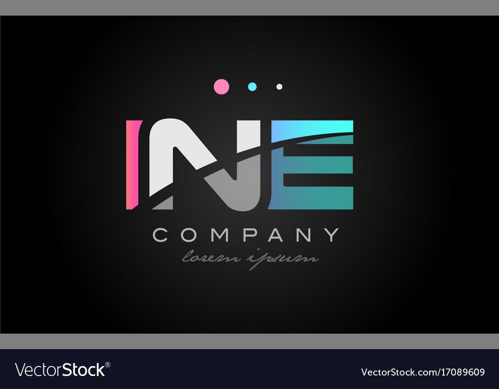 Ine i n e three letter logo icon design