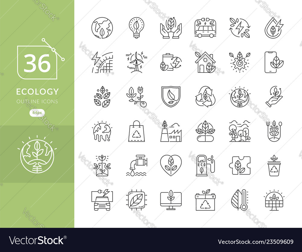 Simple set of eco icons