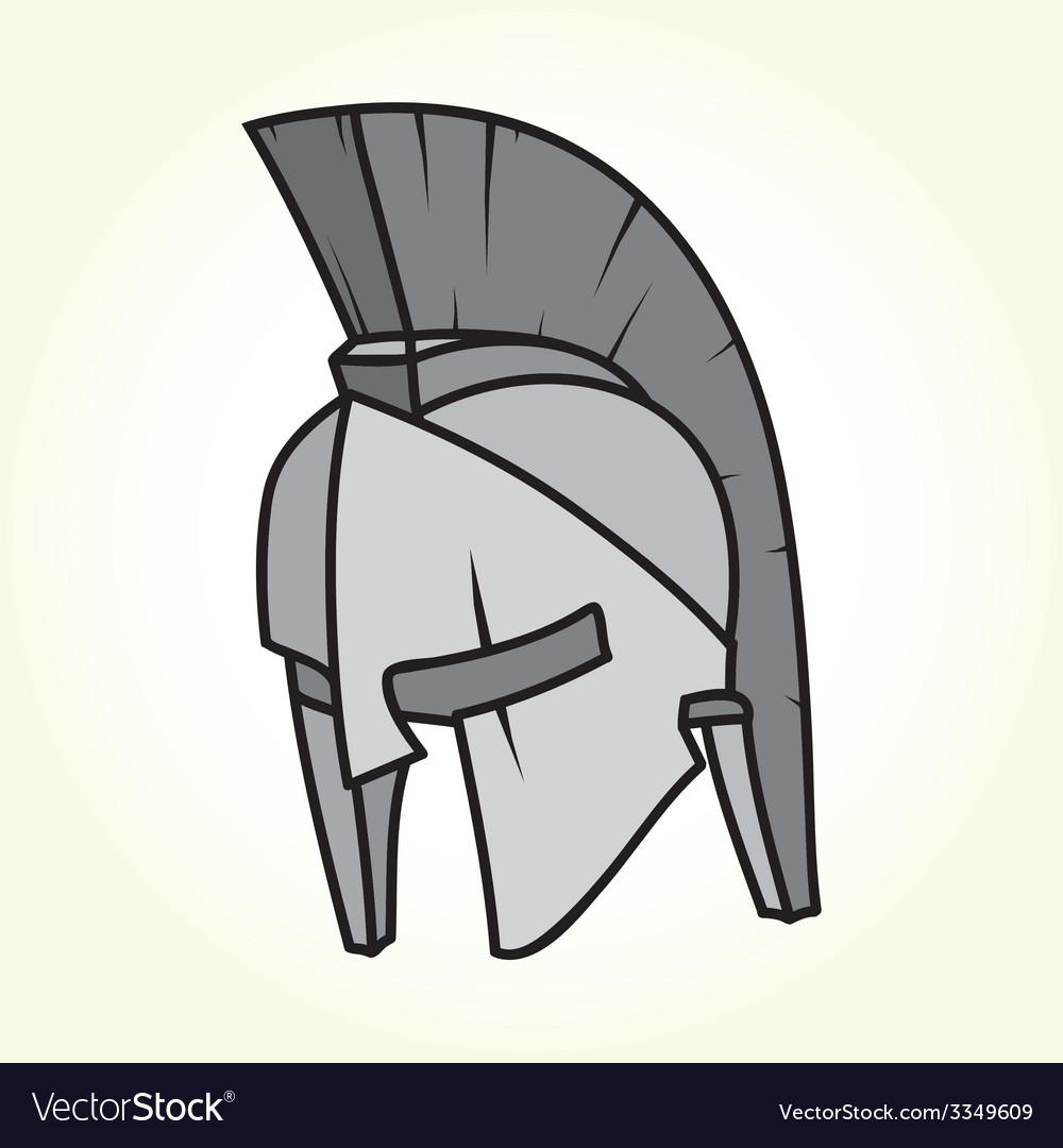 Sparta helmet isolated vector image