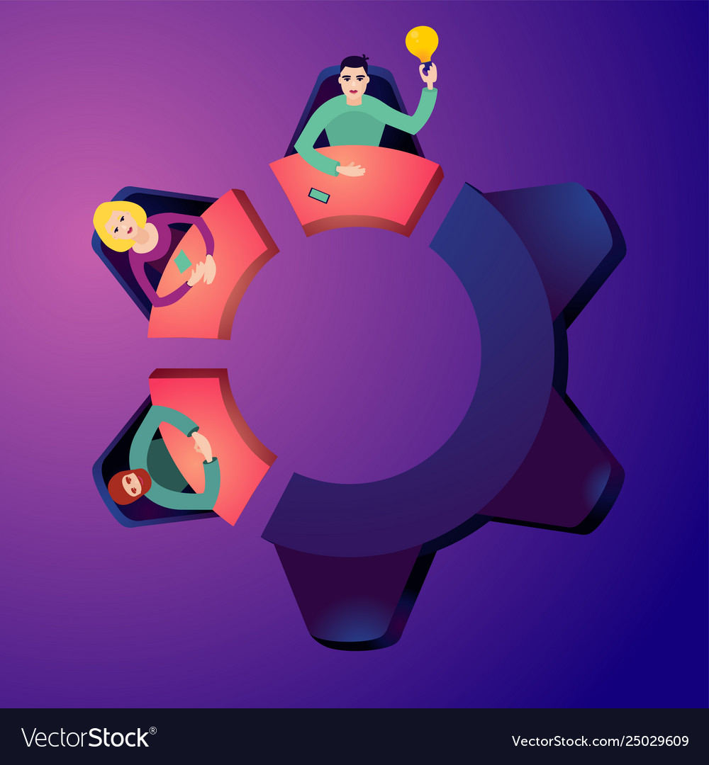 Worker on a meeting brainstorming concept top