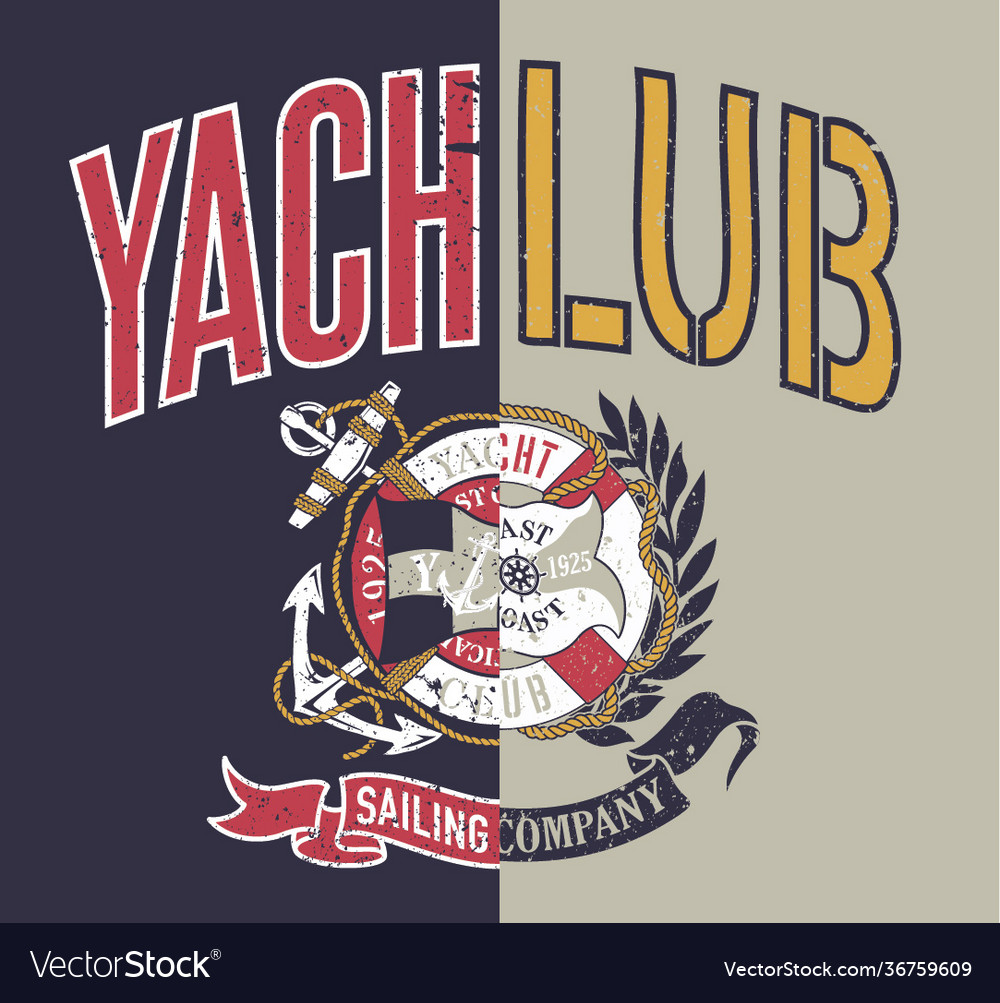 Yacht club sailing company collage