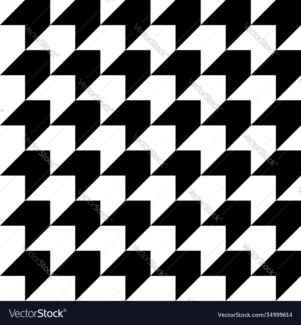 Black and white houndstooth seamless pattern