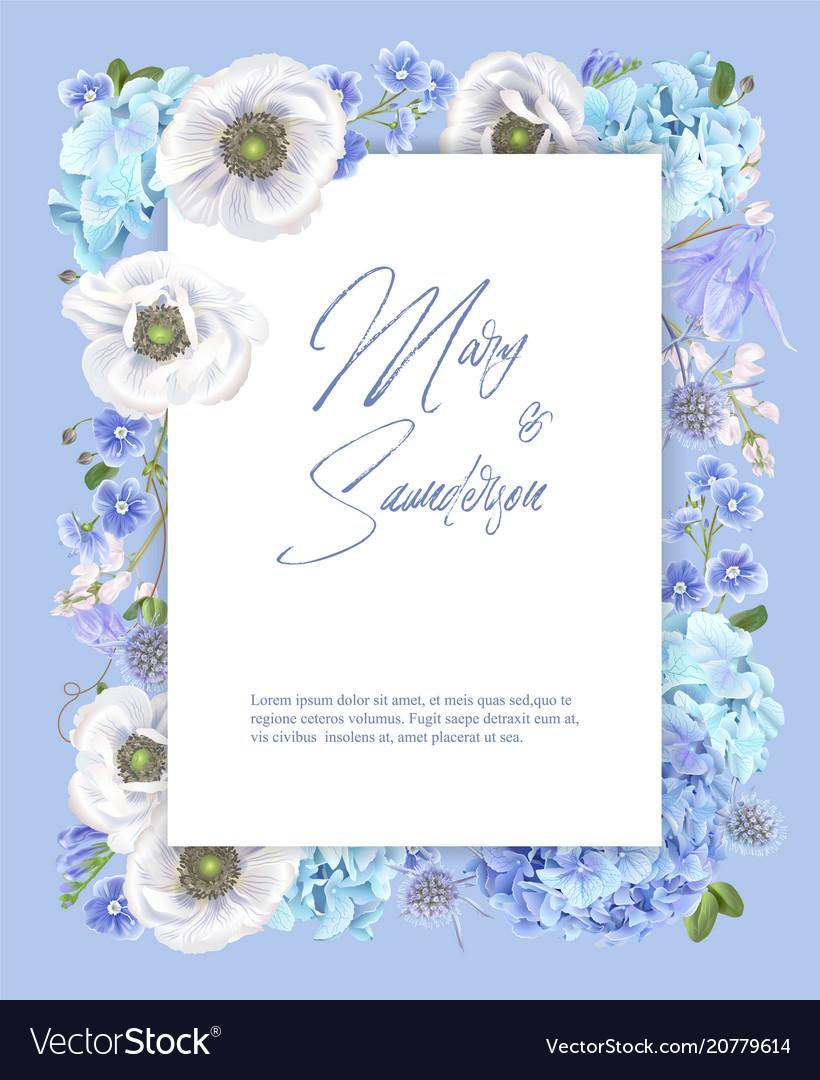 Blue anemone frame