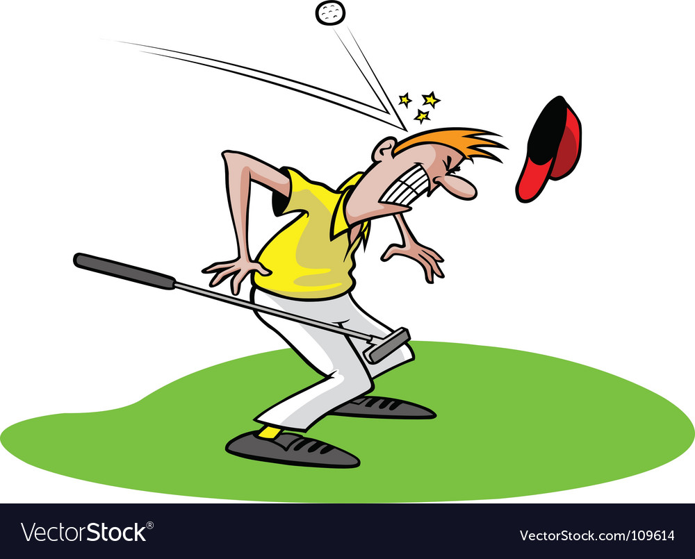 Cartoon golfer vector image
