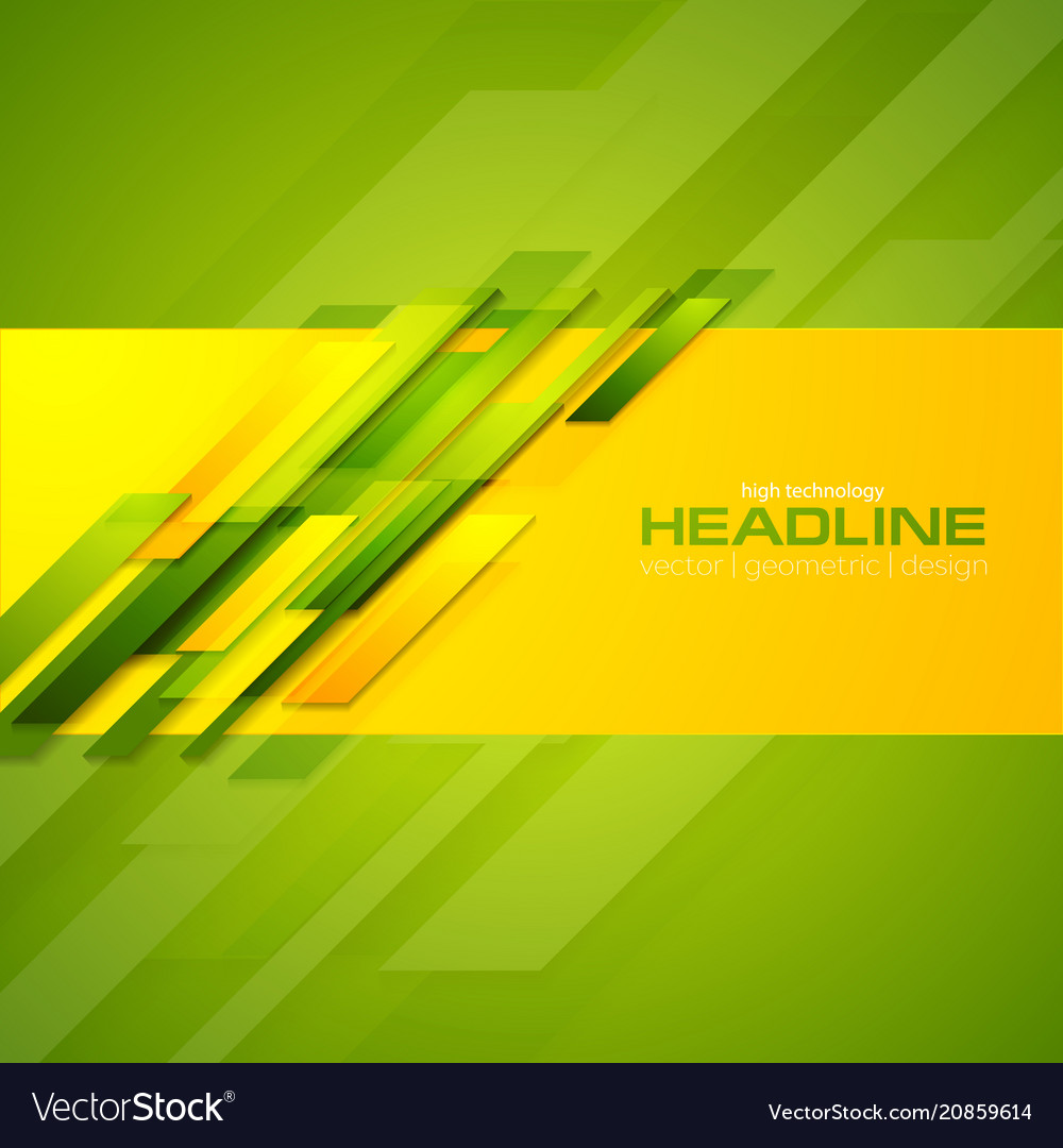 Colorful abstract corporate geometric background vector image
