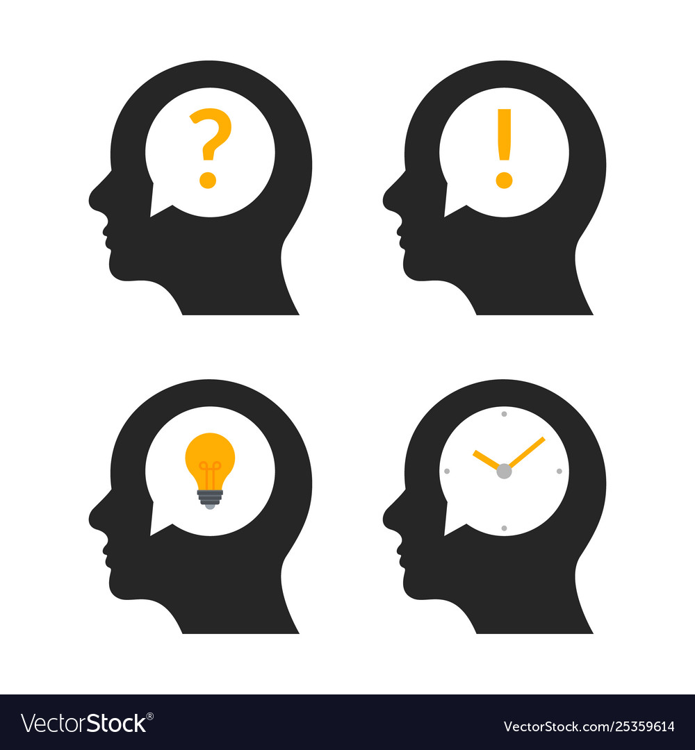 Human head brain idea profile person business