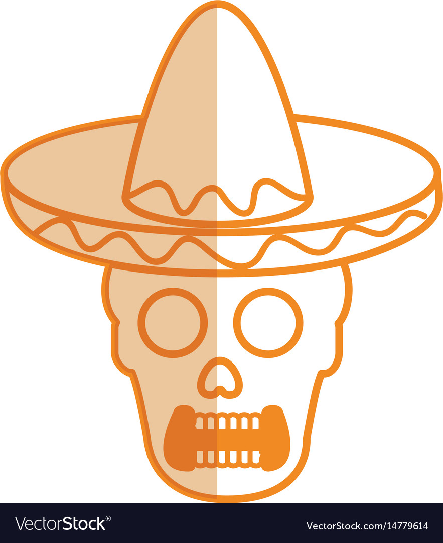 Mexican mariachi skull character