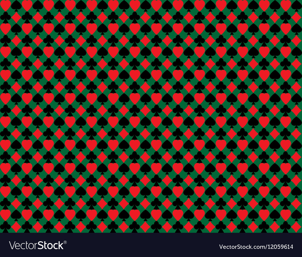 Minimalistic green poker background with texture vector image