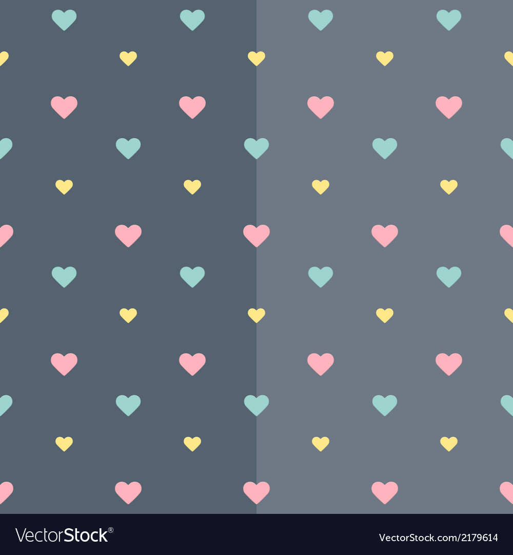 Seamless colorful heart blue pattern
