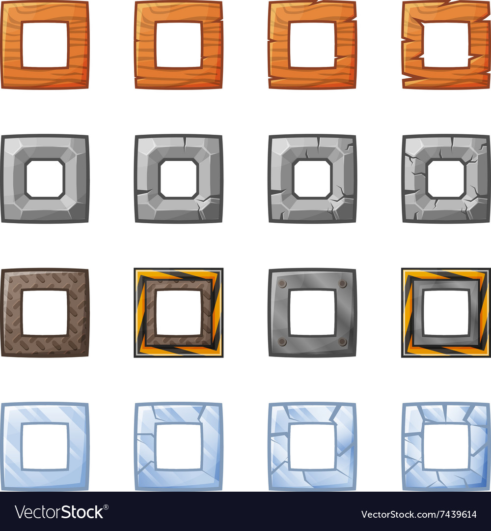 Square Blocks For Physics Game 2