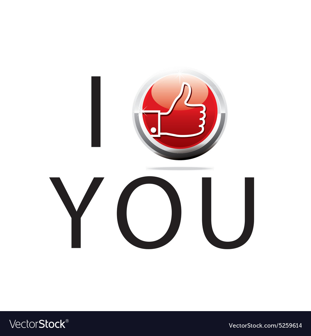 Thumb up i like you design symbol vector image