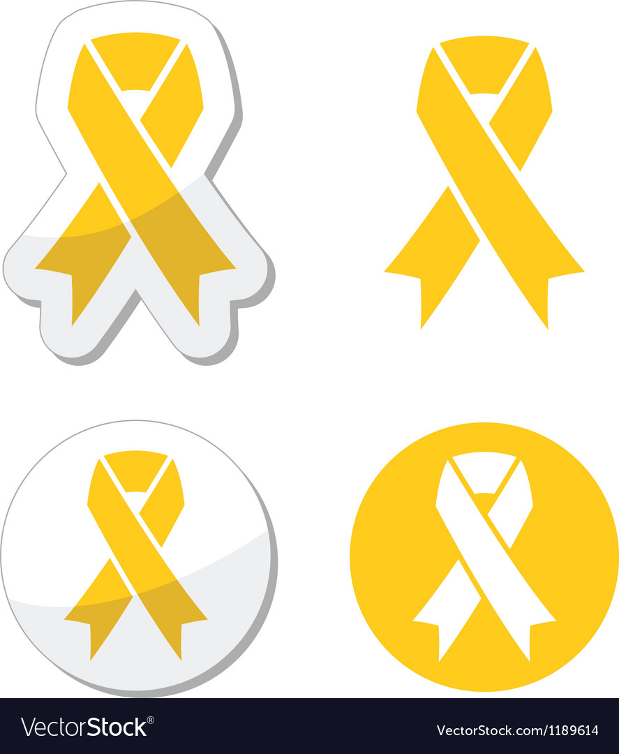 Yellow ribbon - support for troops suicide symbol