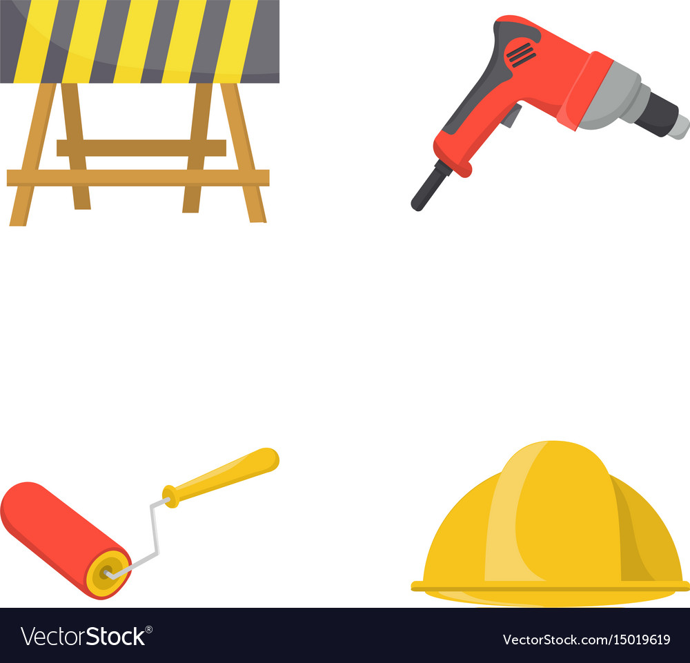 A barrier on the construction site an electric vector image