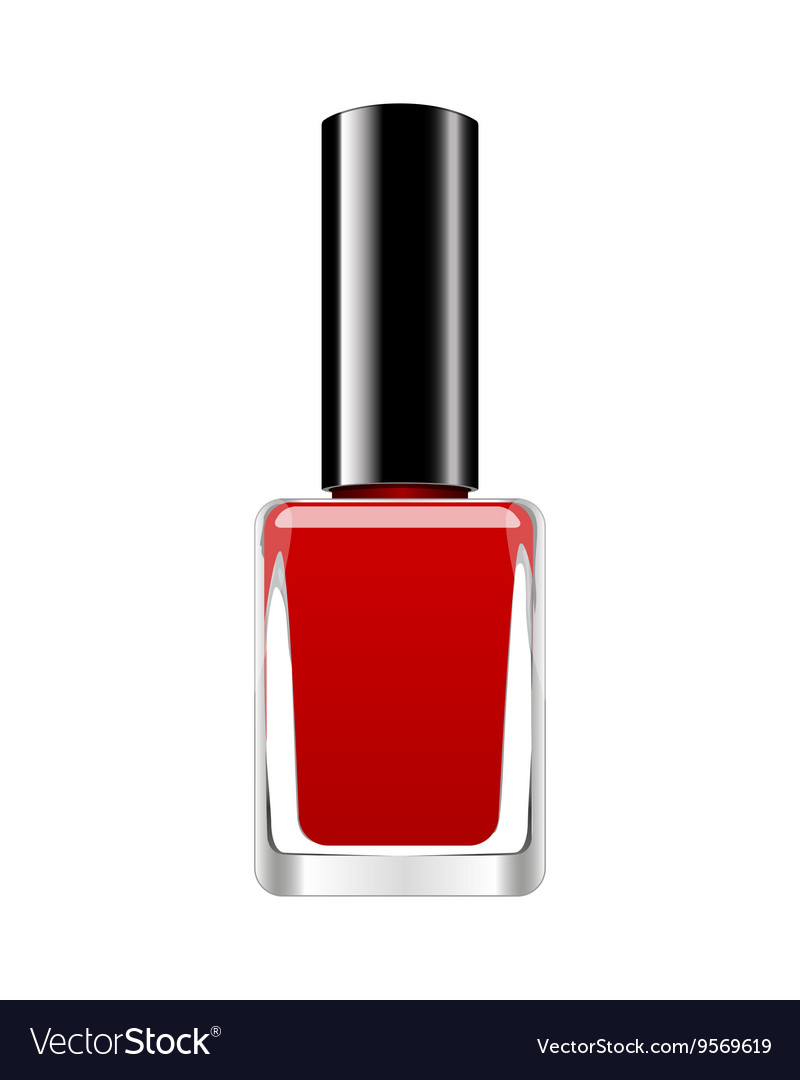 Background with red nail polish