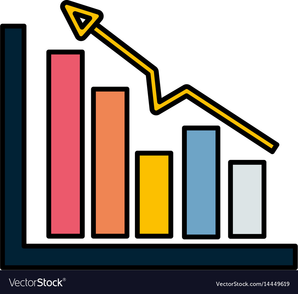 Business statistic data growing diagram vector image