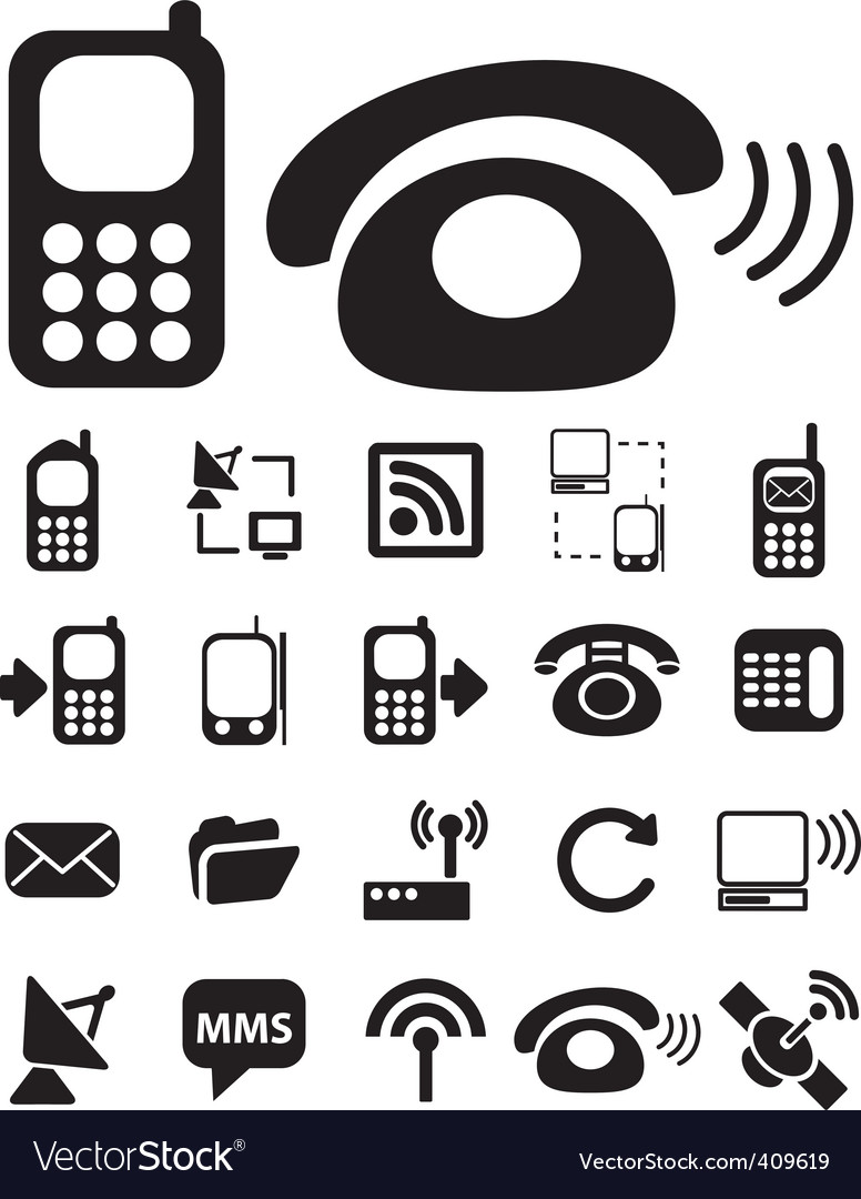 Connection black signs vector
