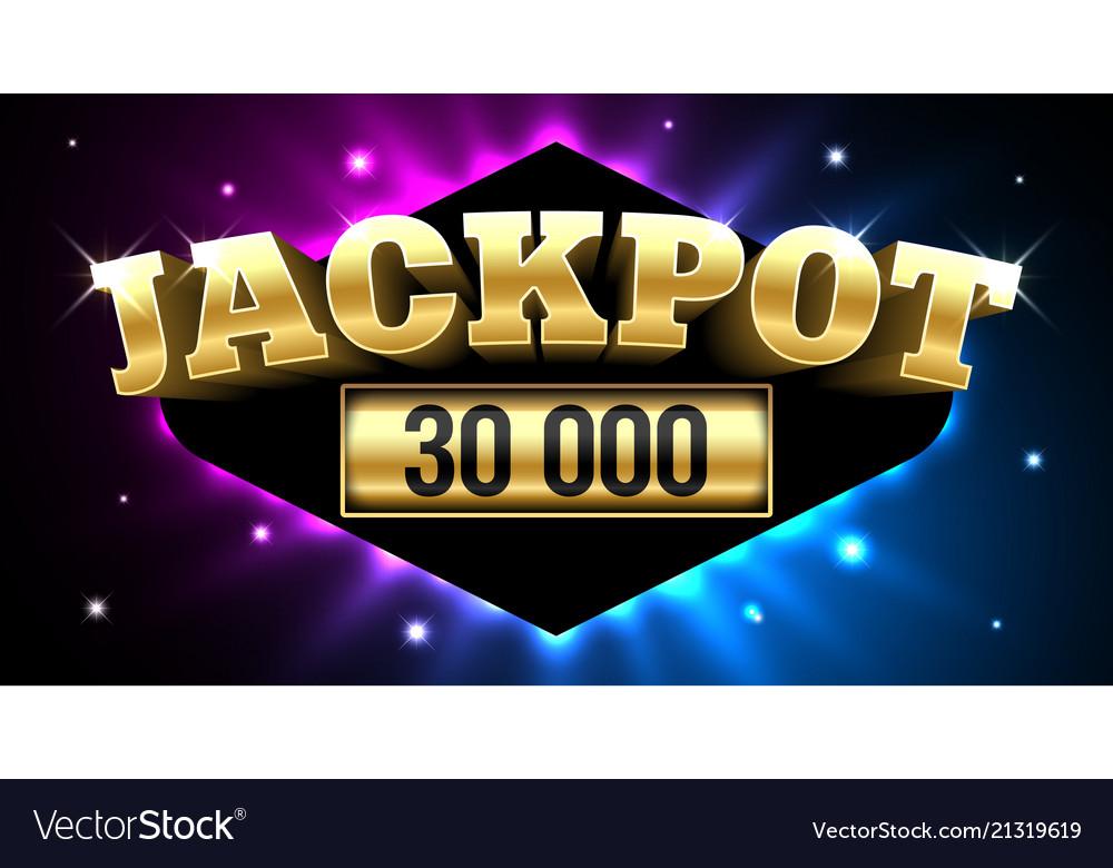 Jackpot gambling casino money games banner