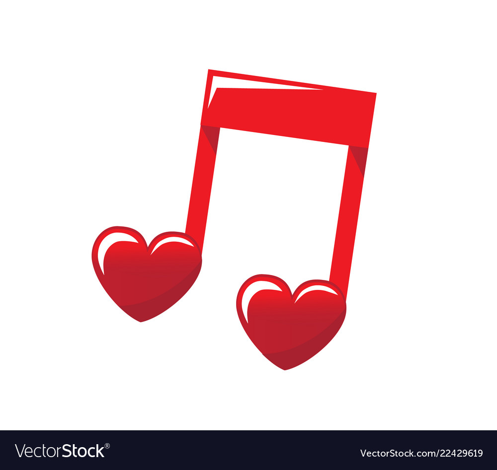 Love music sounds in the heart