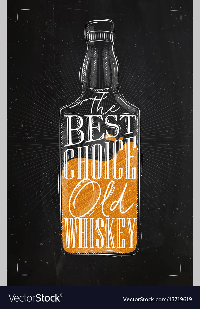 Poster whiskey best choice color vector image