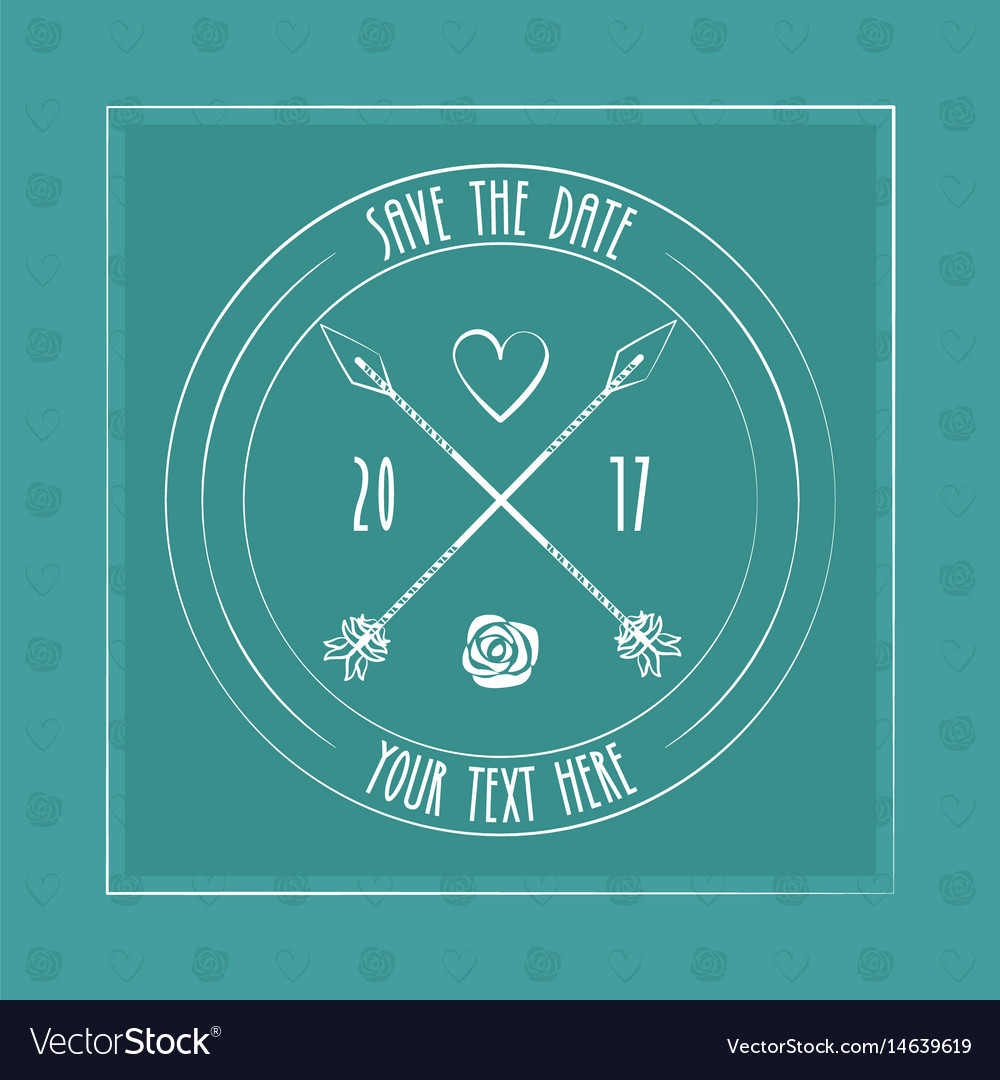 Save the date card decoration invitation arrow
