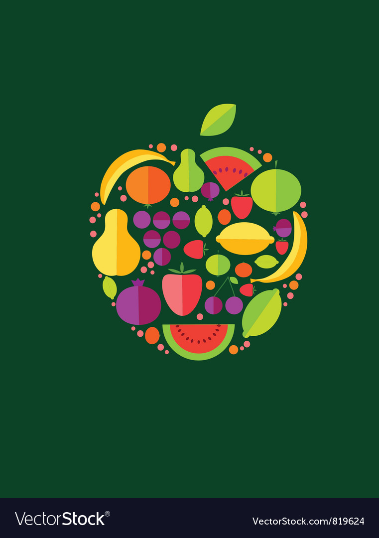 Apple From Fruit vector image