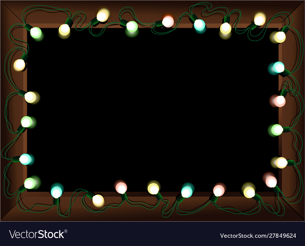Christmas lighting frame
