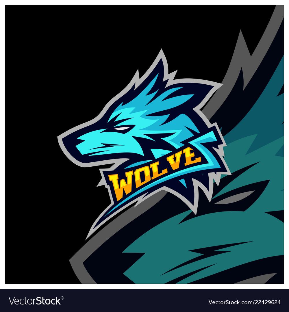 Modern professional wolf logo for a sport team