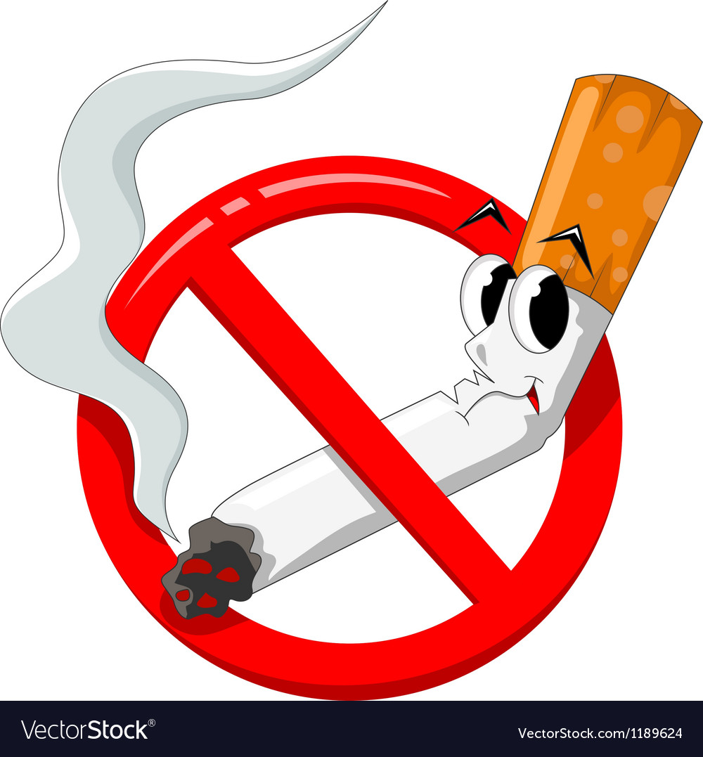 No smoking cartoon vector image