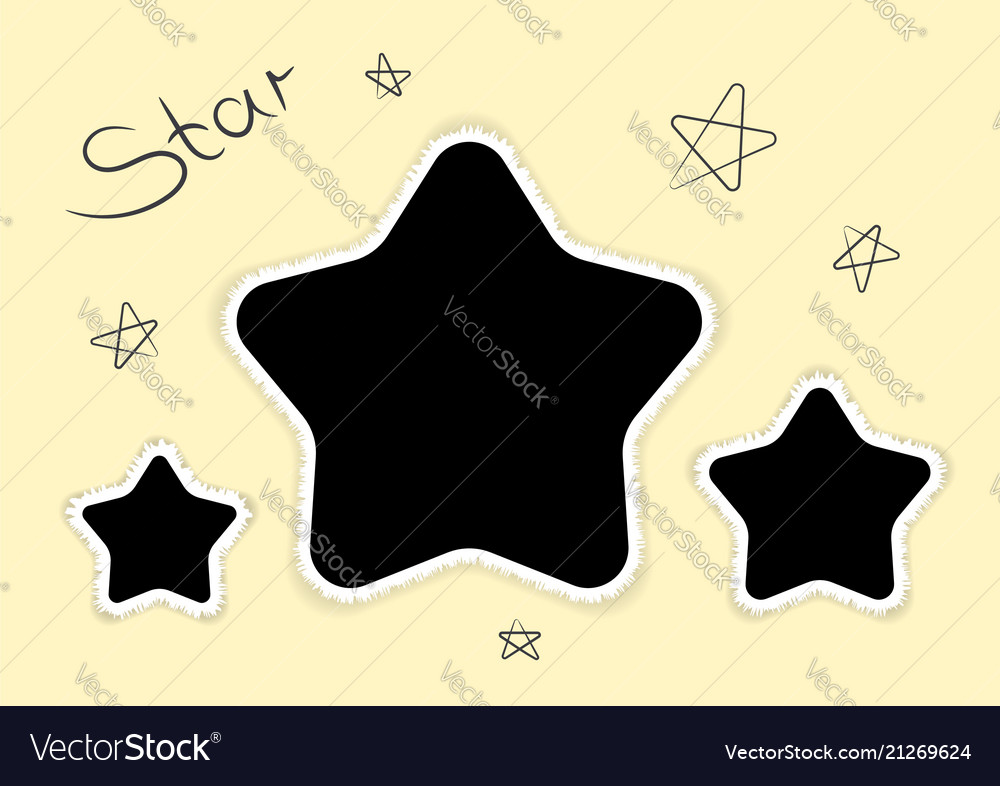 Photoframe stars template for photo modern style