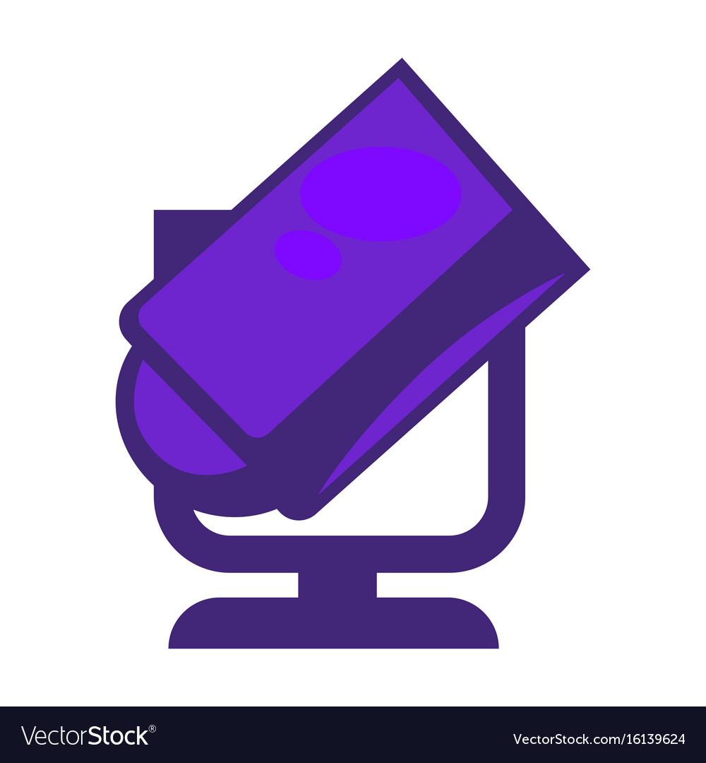 Purple colored searchlight