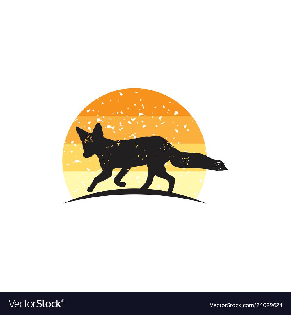 Rustic fox logo design