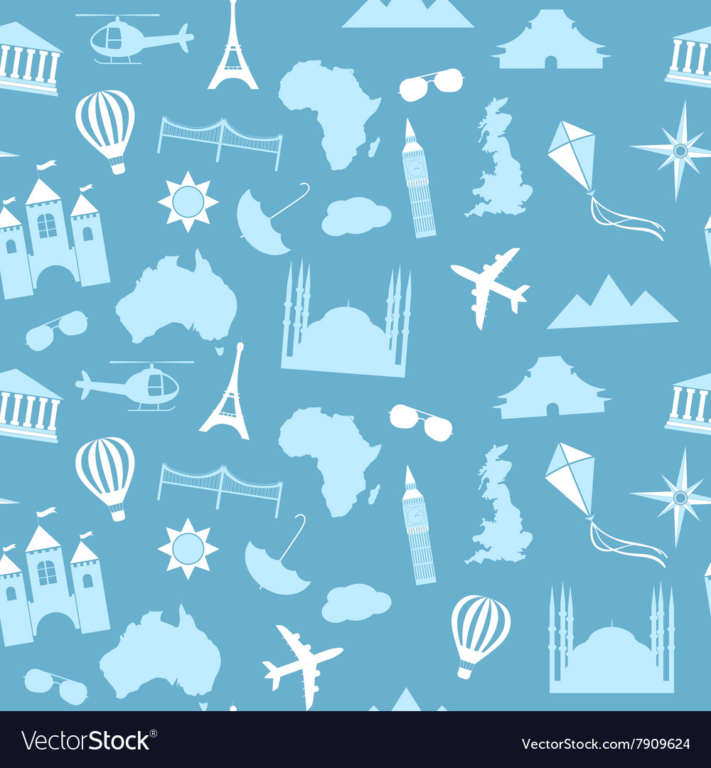 Seamless pattern background travel