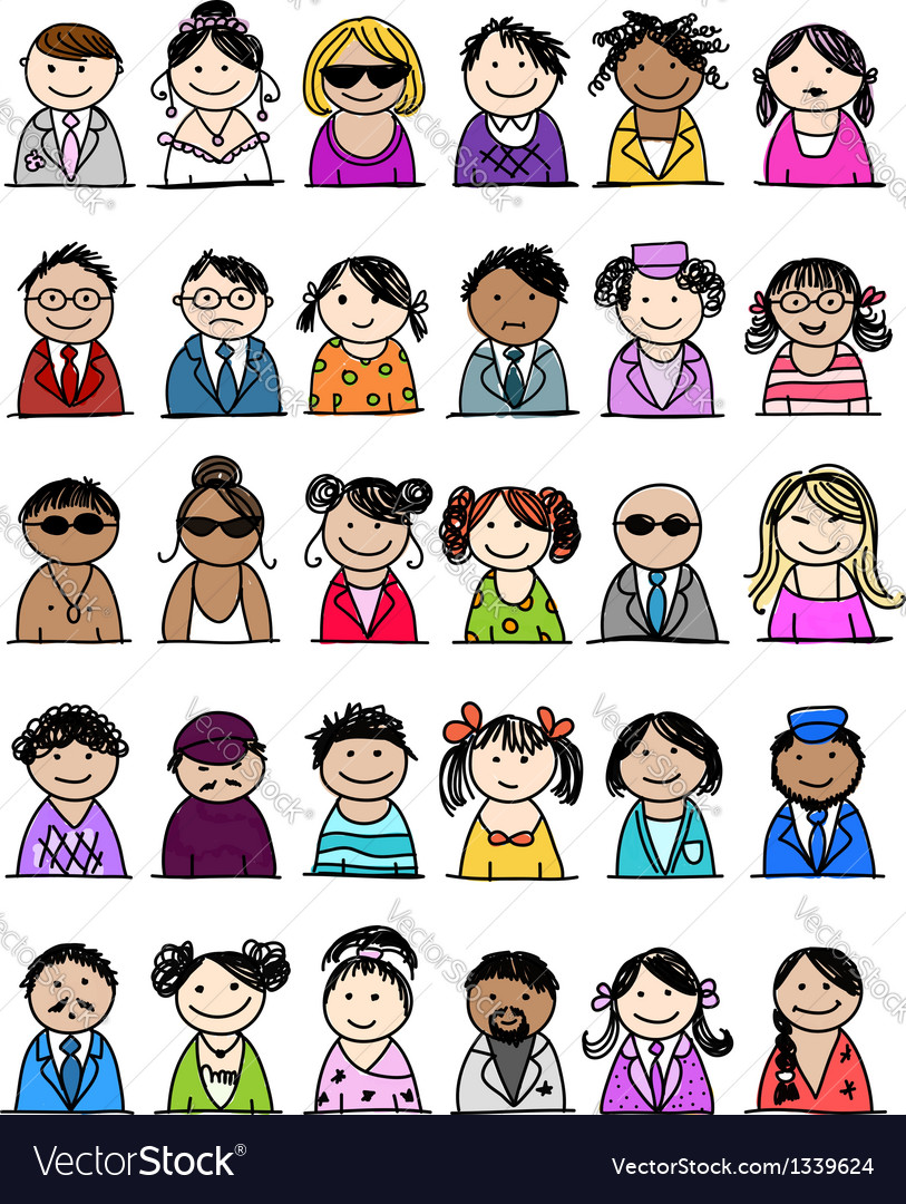 Set of people icons for your design
